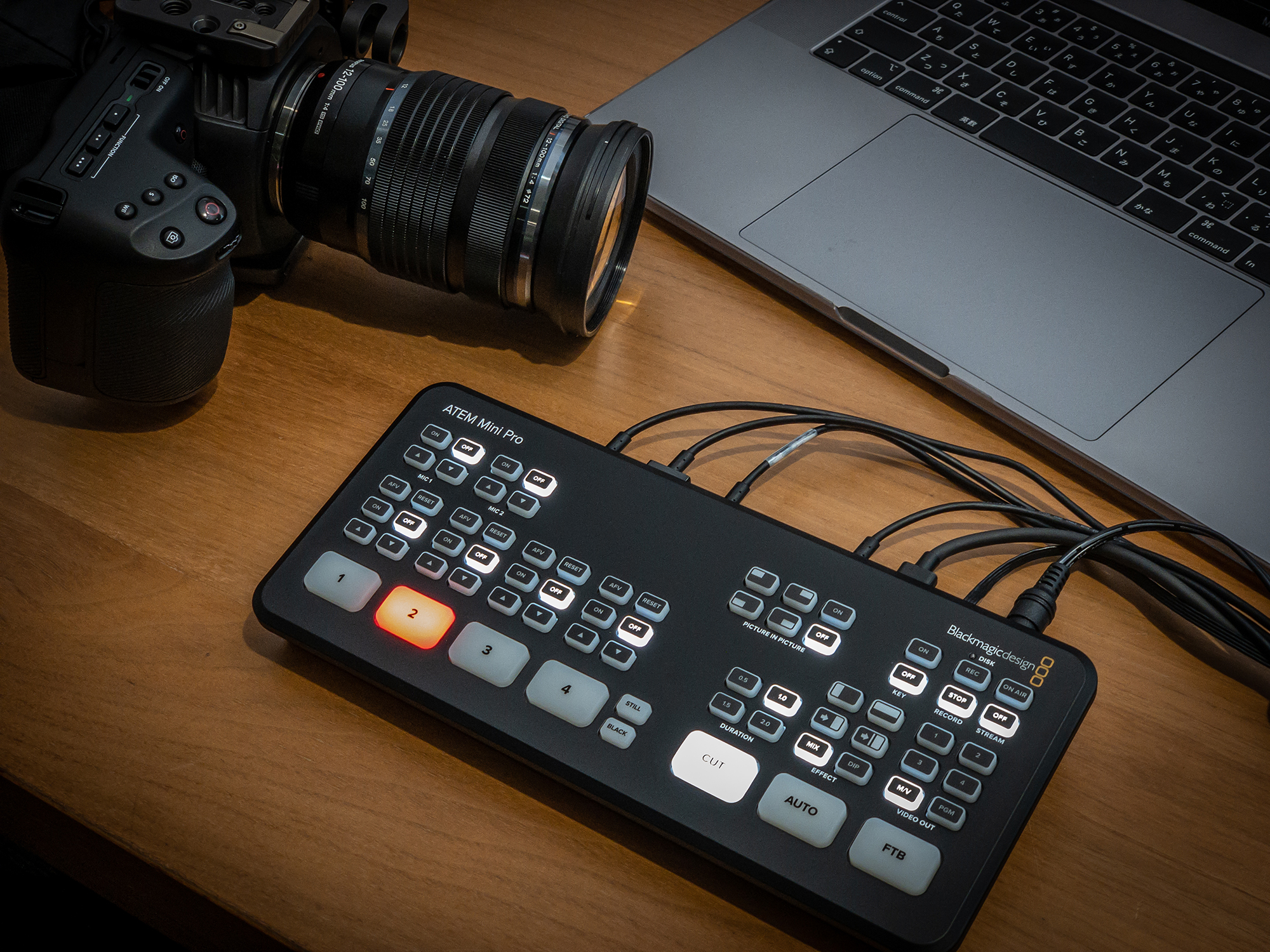 BlackmagicDesign 配信ソリューション ATEM Mini Pro / BMPCC / HORIC HDMIテスト